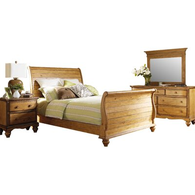 Hamptons Sleigh 4 Piece Bedroom Set by Hillsdale