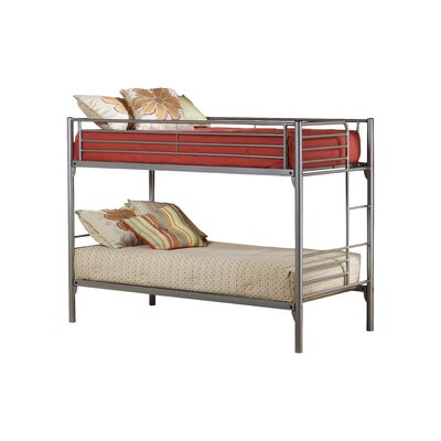 Universal Youth Twin over Twin Bunk Bed with Built-In Ladder by Hillsdale