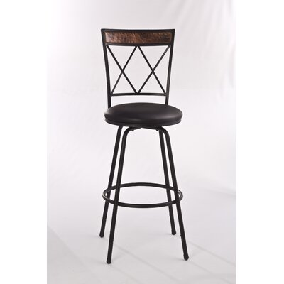 Howard Adjustable Height Swivel Bar Stool with Cushion by Hillsdale