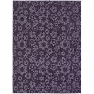 Garland Rug Magic Odor Eliminating Purple Flowers Area Rug Garland Rug