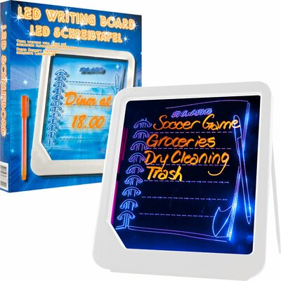 Trademark Home Collection LED Writing Menu Message Lap Board Whiteboard,  1' x 1'