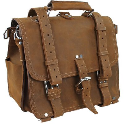 Heavy Duty Medium Full Leather Briefcase and Backpack by Vagabond Traveler