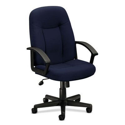 Basyx by HON VL600 Series Mid-Back Conference Chair with Loop Arms
