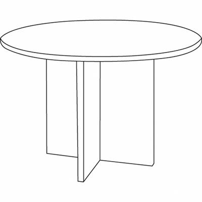 Basyx by HON Laminate Series 4' Circular Conference Table