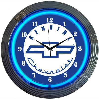 """Neonetics Cars and Motorcycles 15"""" Genuine Chevrolet Wall Clock"""