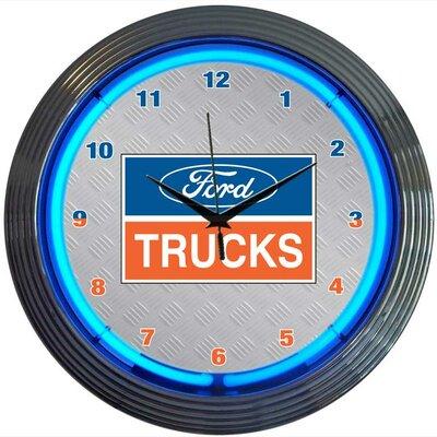 """Neonetics 15"""" Ford Trucks Wall Clock"""