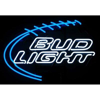 Neonetics Bud Light Football Neon Sign