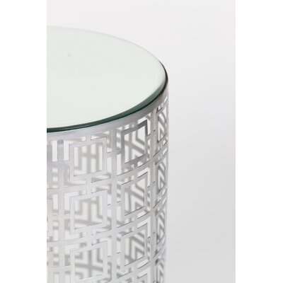 Prima Mirrored Drum End Table