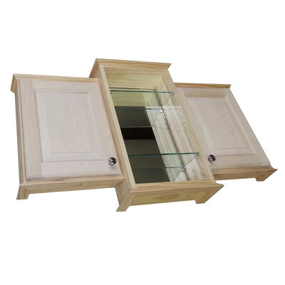 "Drexel Triple Series 43.25"" x 25.5"" Surface Mount Center Mirrored Medicine Cabinet Product Photo"