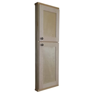 """WG Wood Products Shaker Series 15"""" x 43.5"""" Wall Mounted Cabinet"""