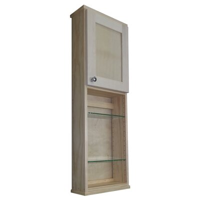 "WG Wood Products Shaker Series 15"" x 43.5"" Wall Mounted Cabinet"