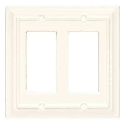 Brainerd Wood Architectural Double Decorator Wall Plate