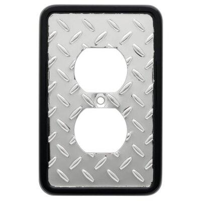 Brainerd Diamond Plate Single Duplex Wall Plate