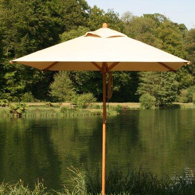 10' Square Bamboo Market Umbrella by Bambrella