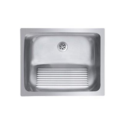 Ukinox Single Basin Stainless Steel Laundry Sink with washboard ...