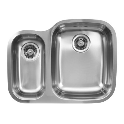 "26.25"" x 20.5"" Double Bowl Undermount Kitchen Sink Product Photo"