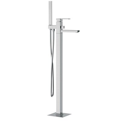 Single Handle Floor Mounted Tub Filler Trim with Shower Spout Product Photo