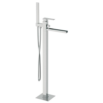 Single Handle Floor Mounted Tub Filler with Hand Shower Product Photo