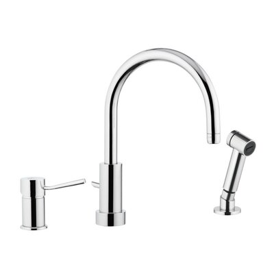 Single Handle Deck Mounted Kitchen Sink Faucet with Spray Jet by Remer by Nameek's