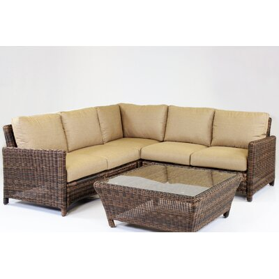 Del Ray 5 Piece Sectional with Cushion by South Sea Rattan