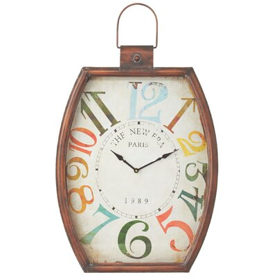 Colorful Number Wall Clock by CBK