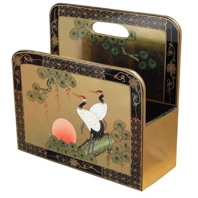 Grand international decor gold leaf crane magazine rack for International home decor magazines
