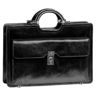 Signature Classic Leather Briefcase by Mancini