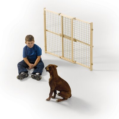 Midwest Homes For Pets Wood Wire Mesh Pet Gate