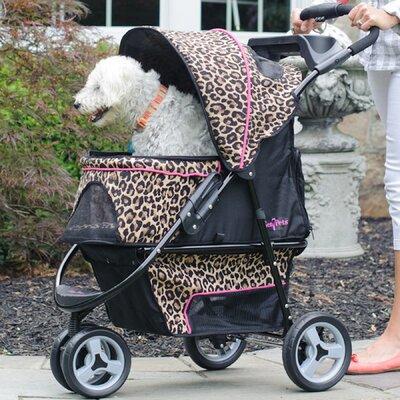 Promenade Standard Pet Stroller in Cheetah Print by Gen7Pets