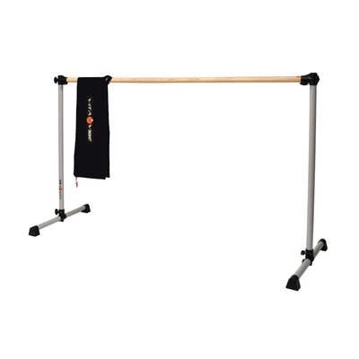 Prodigy Series Traditional Wood Single Bar Ballet Barre-n-Bag Kit by Vita Vibe