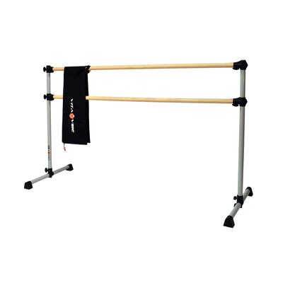 Prodigy Series Traditional Wood Double Bar Ballet Barre-n-Bag Kit by Vita Vibe