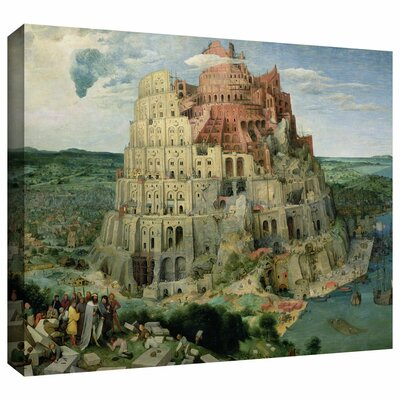 ArtWall 'Tower of Babel' by Pieter Bruegel Gallery Wrapped on Canvas