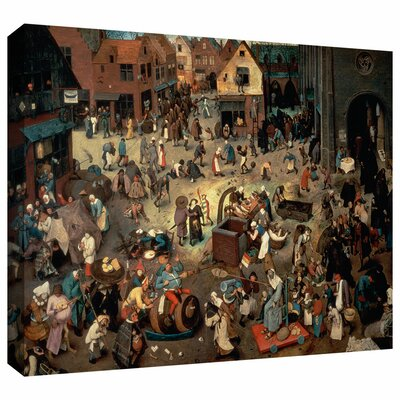 ArtWall 'Fight between Carnival and Lent' by Pieter Bruegel Gallery Wrapped on Canvas