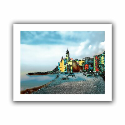 'Camogli Italy Beachside Signed' by Linda Parker Canvas Poster by ArtWall
