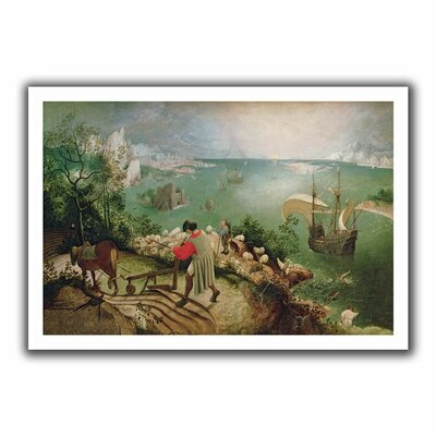 ArtWall 'Landscape with the Fall of Icarus' by Pieter Bruegel Canvas Poster