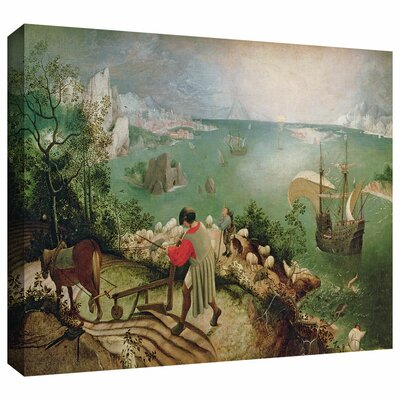 ArtWall 'Landscape with the Fall of Icarus' by Pieter Bruegel Gallery Wrapped on Canvas
