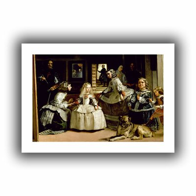 ArtWall 'Las Meninas, detail of the lower half depicting the family of Philip IV of Spain' by Diego Velazquez Canvas Poster