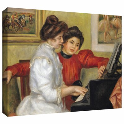 'Yvonne and Christine Lerolle at the Piano' by Pierre Renoir Gallery Wrapped on Canvas by ...