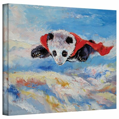 ArtWall 'Panda Superhero' by Michael Creese Gallery Wrapped on Canvas