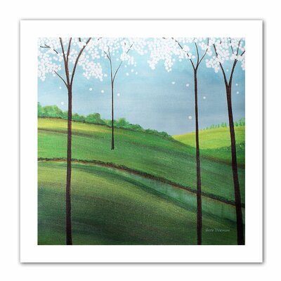 'Whimsy Spring' by Herb Dickinson Painting Print on Canvas by ArtWall