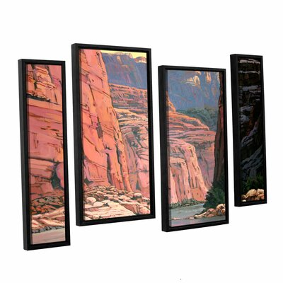 Colorado River Walls by Rick Kersten 4 Piece Floater Framed Canvas Staggered Set by ArtWall ...