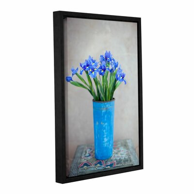 Iris Flowers by Elena Ray Gallery-Wrapped Floater-Framed Canvas by ArtWall