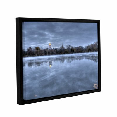 The Basilica-Notre Dame by Dan Wilson Gallery-Wrapped Floater-Framed Canvas by ArtWall