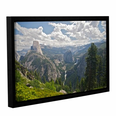 Yosemite-Half Dome, Vernal Falls And Nevada Falls by Dan Wilson Gallery-Wrapped Floater-Framed ...