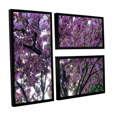 Spring Flowers by Dan Wilson 3 Piece Floater Framed Canvas Flag Set by ArtWall