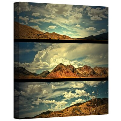 ArtWall 'Saving Skis' by Mark Ross Flag 3 Piece Painting Print Gallery-Wrapped on Canvas Set