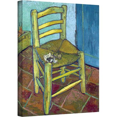ArtWall ''Vincent's Chair'' by Vincent Van Gogh Painting Print on Canvas