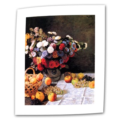 "ArtWall ""Flowers and Fruit"" by Claude Monet Painting Print on Canvas"