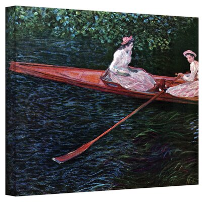 ArtWall ''Canoe'' by Claude Monet Painting Print on Canvas