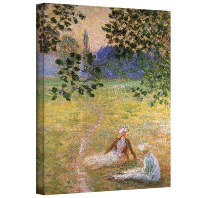 ArtWall 'Eve in the Meadow at Giverny' by Claude Monet Canvas Painting Print